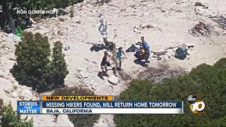 Missing hikers found, will return home tomorrow - Video