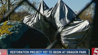 Dragon Restoration Yet To Begin At Fannie Mae Dees Park - Video