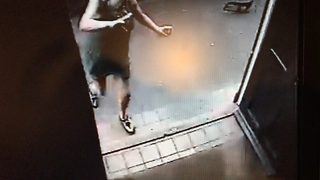 Pub goer has lucky escape after running into local to escape an out of control car - Video