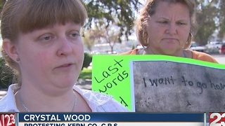 Locals protest Kern County CPS - Video