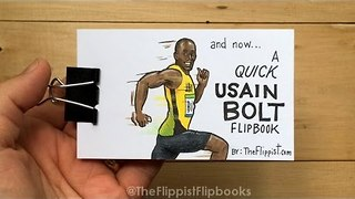 Man Creates Unique Usain Bolt Flipbook Specially for the Olympic Legend - Video