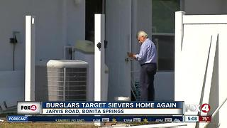 Sievers' Bonita Springs home burglarized again
