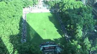 This View of the Bryant Summer Park Film Festival Is Amazing - Video