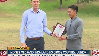 Moises Medrano named 23ABC's male AOTW - Video