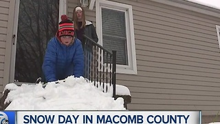 Snow day in Macomb County - Video