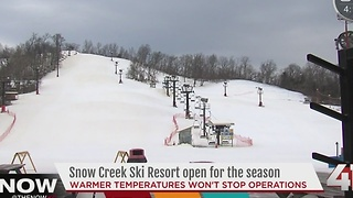 How Snow Creek creates several feet of snow - Video