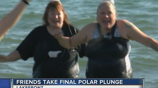 Polar Bear Plunge tradition ends for 2 friends - Video