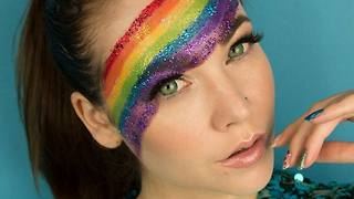 Gay pride rainbow makeup tutorial - Video