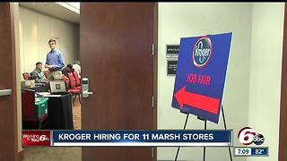 Kroger holding job fairs following Marsh purchases - Video