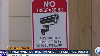 Homeowners joining surveillance program - Video