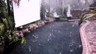 Hail Lashes South-East Queensland Amid Severe Storm - Video
