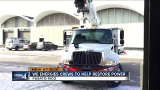 We Energies sending crews to help restore power in Puerto Rico