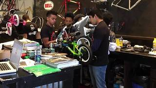 Bikes for Kids Project: Union students help repair bicycles to be given to families in need as gifts - Video