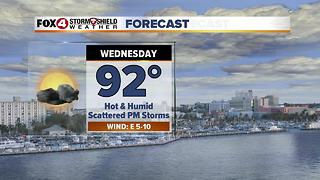 Scattered Storms, Hot & Humid 7-11