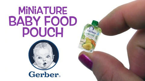 Miniature DIY Gerber baby food pouch