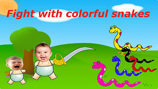 Bad Baby crying and learn colors  - Video