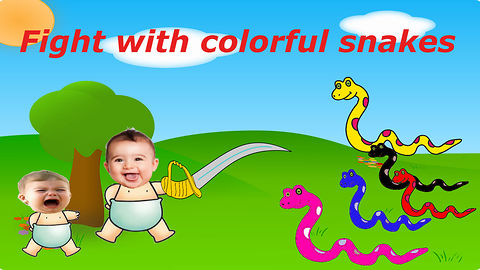 Bad Baby crying and learn colors