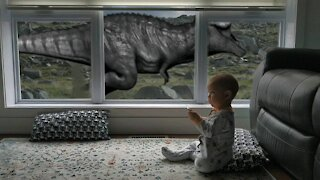 Window Remote control: Dinosaur