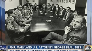 Former Maryland U.S. Attorney George Beall dies - Video