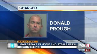 Man Breaks in Hoe and Steals Pepsi - Video