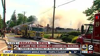 Carroll County fire crews battle 2-alarm fire in Mt. Airy - Video