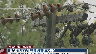 Ice Storm Hits Bartlesville - Video