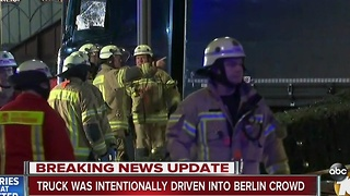 UPDATE: Truck intentionally driven into Berlin crowd - Video
