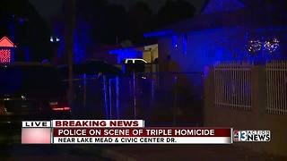 Police are investigating after 3 people were found fatally shot in North Las Vegas - Video