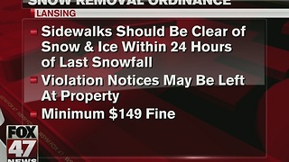 Snow removal ordinances being enforced - Video