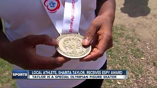 Local special olympics figure skater receives ESPY - Video