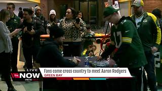 Fans come cross country to meet Aaron Rodgers