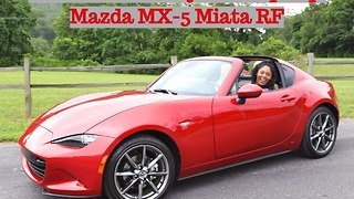 First look at this cherry red drop-top Mazda MX-5 Miata RF