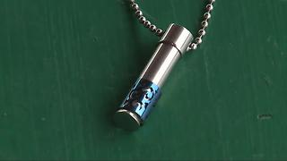 Necklace containing ashes found in Woodhaven park - Video