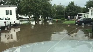 Pelham Streets Under Water Amid Flood Warnings Across Several Alabama Counties - Video