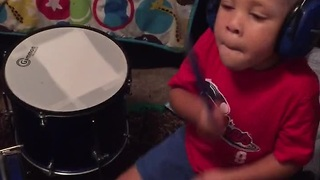 2-Year-Old Musical Prodigy Lays Down A Sick Drum Beat - Video