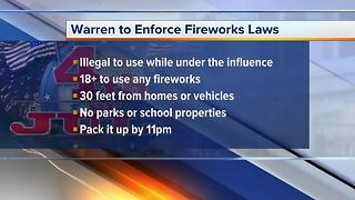 Warren to enforce fireworks laws - Video