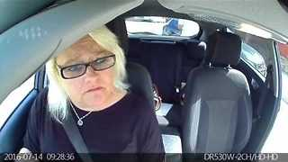 Driving Instructor Records Car Being Rear Ended - Video