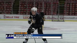Sidney Crosby dreams of being a goalie, and would love to face Pavel Datsyuk