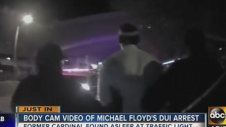 Body camera footage released from Michael Floyd's DUI arrest