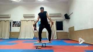 Acrobat shows great skill and balance || Viral Video UK - Video