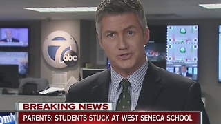 Students reportedly stuck at West Seneca School because of snow - Video