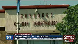 Bomb threat in Tahlequah - Video