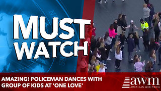 Amazing! Policeman dances with group of kids at 'One Love' - Video