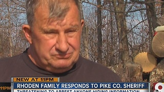 Rhoden family responds to Pike County sheriff