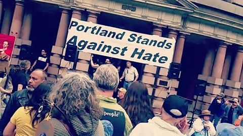 Opposing Protesters Gather at Portland City Hall