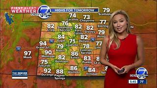 A few thunderstorms Saturday - Video