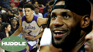 LeBron James Scouting Lonzo Ball in Vegas, Teammates in 2018? -The Huddle - Video