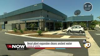 Desal plant expansion cleans ancient water - Video