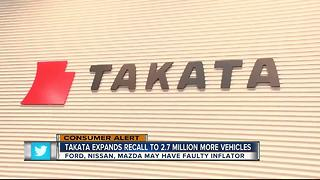 Takata issues recall on 2.7 million vehicles - Video