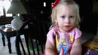 Little Girl Shares Cute Ending To Story - Video